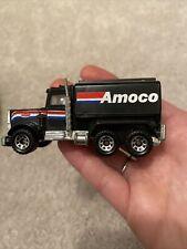 Vintage 1981 Matchbox International Peterbilt Tanker Truck Amoco Oil RARE Black
