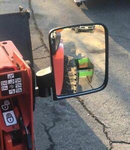XL Magnet RUBBER COATED TRACTOR MIRRORS KUBOTA BX JOHN DEERE 1025r FORKLIFT CASE