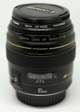 Canon EF 85mm f/1.8 USM Standard & Medium Telephoto Lens with UV Filter