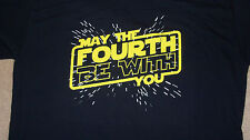 """XL """"May the 4th (Fourth) Be With You"""" T-Shirt STAR WARS Force Humor Soft Vader"""
