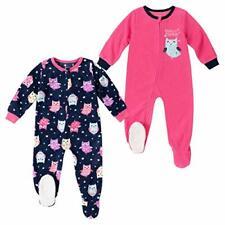 absorba Baby Girls 2-Pack Blanket Sleeper (Pink Owl, 5T)