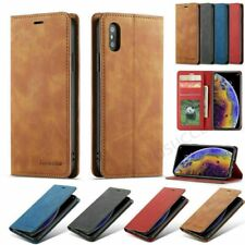 For iPhone 12 Mini 11 Pro Max 6 7 8 Plus Magnetic Flip Case Leather Wallet Cover