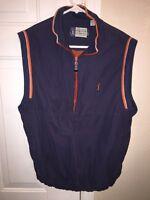 PGA TOUR Golf Half Zip Vest Blue Sz Medium F14