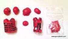 Boss Fight JOE MTF RED Vest Gear Figure Accessory Set Lot Custom GI Fodder