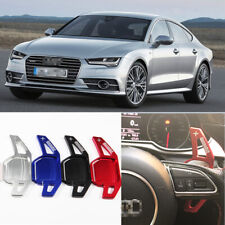 2PCS Steering Wheel Shift Paddle Shifters Extension Aluminum For Audi A7 13-18