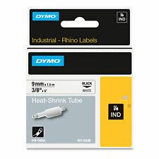Dymo Rhino Heat Shrink Tubes Industrial Label Tape 38 X 5 Ft Whiteblack Print