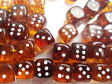 Baltic Amber Dice with rounded corners, amber pressed , unique gift. 10 mm