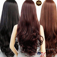 60cm Sexy Lady Fashion Women's Curly Wavy Long Hair Full Wigs Cosplay Party Wig