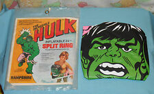 vintage Hampshire THE INCREDIBLE HULK INFLATABLE SPLIT RING inner tube pool toy