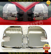 For 2017 2018 2019 FORD F250HD+F350HD 2PCS FULL CHROME MIRROR COVER WITH SIGNAL