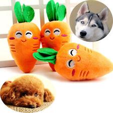 Cute Puppy Pet Orange Carrot Plush Chew Squeaker Sound Squeaky Dog Toys Supplies