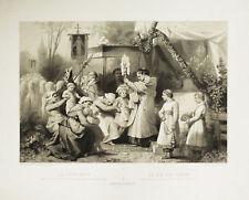 CORPUS CHRISTI FETE DIEU DIA DEL SENOR - Litografia Originale 1800