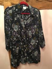 EAST floral Tunic Blouse Size 16 BNWOT