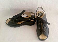 FLY Lodon Black Wedge Sandal Sz 37 (fits 6 - 6.5) -- $150 Retail  Save 33%