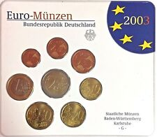 Germany 2003 Official Euro Coin Set Special Edition Karlsruhe Mint G Deutschland