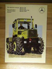 MERCEDES-BENZ MB-trac 700,800,Turbo 900,1000 sales brochure