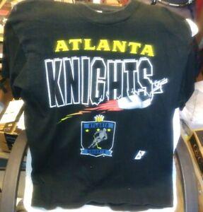 Atlanta Knights IHL Black XL T-shirt Vintage