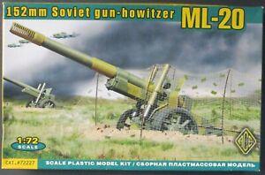 ACE 1/72nd Scale 152mm Soviet Gun Howitzer ML-20 Kit No. 72227 in open box!