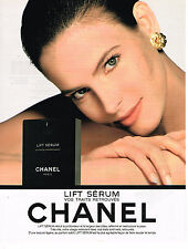 PUBLICITE ADVERTISING 104  1991  CHANEL  cosmétiques LIFT SERUM