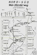 Prospekt, Nord-Süd Weit-Wanderweg, Teilstecken Steiermark u. Niederösterr., 1976
