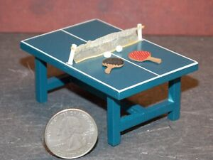 Dollhouse Miniature Ping Pong Game Table 1:24 half inch scale D4 Dollys Gallery