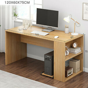 PC Wooden Large Computer Desk Writing Study Table Office Home Workstation 120CM