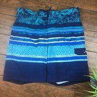 SUPERDRY Mens Red Blue Yacht Club Palm Tree Swim Shorts Trunks w// Mesh **NEW