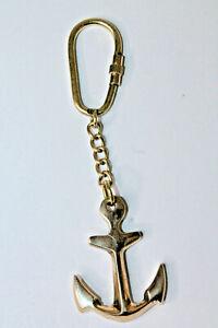 Brass Anchor Nautical Maritime Marine Key chain Ring Navy Sailor Gift