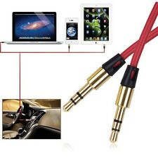New Extra Long RED 3.5mm Gold Jack Audio AUX Cable Cord Lead for Beats by Dr Dre