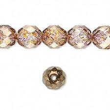 1329 Czech fire polished beads copper lustre 12mm 16 Inch strand *UK EBAY SHOP*