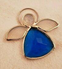 Stained Glass Blue Angel Suncatcher