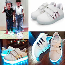 LED Schuhe Licht Mädchen Junge Kinder Farbwechsel Blink Leuchtende USB  Sneaker