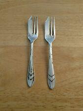 Two M.S. LTD. EPNS Sheffield England Dessert Forks 5 inch free shipping USA