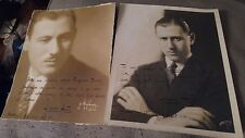 (2) Signed Photos Autograph Franco Autori Conductor of New York Philharmonic