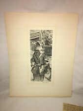 Jaques Villon Original Etching, Signed and Numbered, Fete Champetre, Fine Art
