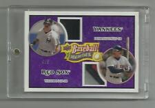 2008 UD Baseball Heroes  Rare Purple Dual Jersey Don Mattingly Wade Boggs 4/5