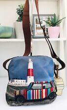 Paul Smith Mini On Location Bag Lighthouse Boston Crossbody Leather Canvas VGC