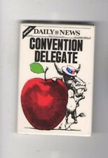 1976 Jimmy CARTER pin DAILY NEWS Newspaper DONKEY NYC Big Apple  DELEGATE