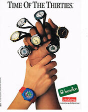 PUBLICITE ADVERTISING 064  1988  BENETTON   montres BULOVA