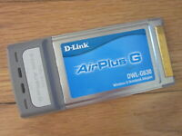 D-Link AirPlus Wireless G Network Notebook PCMCIA Card DWL-G630