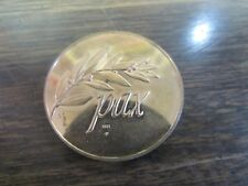 1971 - CHRISTMAS TWO DOVES  - PAX HOLLY -  BRASS CHRISTMAS TOKEN - EXCELLE