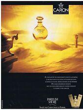 PUBLICITE ADVERTISING 094 1990 CARON le Parfum Sacré