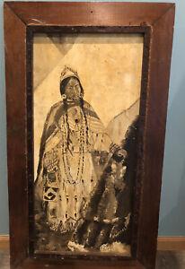 ORIGINAL OIL Painting Native American Indian