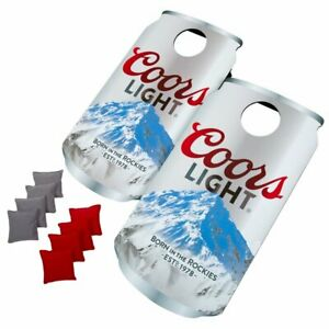 NEW Cornhole Game Beer Can 2-Boards 4-Gray/Red Bean Bags Outdoor Tailgate SEALED