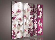 LEINWANDBILD WANDBILD CANVAS BILDER Weiße, Orchideen, Hintergrund  3FX833S6
