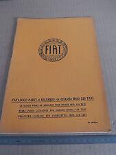 CATALOGO PARTI DI RICAMBIO ORIGINALE 1930 FIAT 520 TAXI