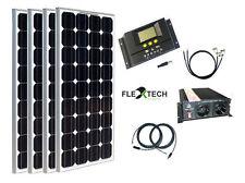 400 Watt Camping Solaranlage, 12Volt SET mit Spannungswandler für Garten Camping