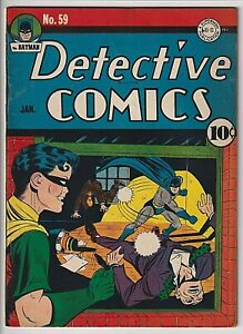 Detective Comics # 59 App. VF 8.0 2nd Appearance of Penguin Scarce! Affordable !