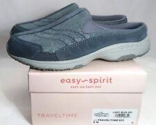 fd053fe9f8bad8 EASY SPIRIT Traveltime Clogs, Size 8, Blue Leather, Metallic Shimmer *BRAND  NEW