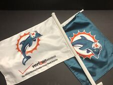 Miami Dolphins NFL Car Flags Vintage Old Logo